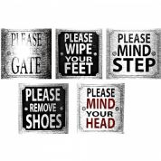PLEASE SIGNS for home, office or business 8cm X 8cm